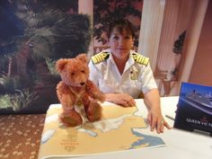 This is the first female Captain of the famous Cunard Line....She met a friend of mine called Compass Rose.
