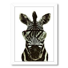 Americanflat 'Zebra Africa' Framed Graphic Art #Americanflat
