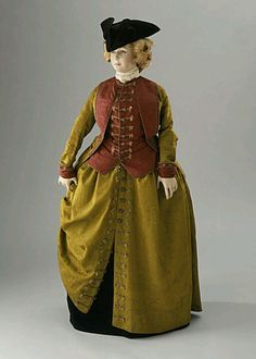Italy, Venice Woman's Riding Habit, circa 1780 Watered silk faille, watered plain weave silk, linen lining 18th Century Dress, 18th Century Costume, 18th Century Clothing, 18th Century Fashion, Historical Costume, Historical Clothing, Luis Xvi, Riding Habit, Rococo Fashion