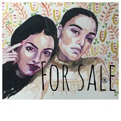 """Citrus Friends is FOR SALE. Head over to the @sktchy   and buy some original Artwork by some incredible artists! The exhibition is called """"Faces and Flowers"""" and I have 4 pieces in there.  #Blueshineart #facesandflowers #sktchy #sktchyinspired #sktchyexhibit #portraiture #sktchysale #artistsoninstagram #onlinegallery #portrait #myart #makeartthatsells #pencilcrayon #pattern #surfacedesign #painting #originalart #ooak"""