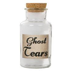 5in Glass Jar Ghost Tears