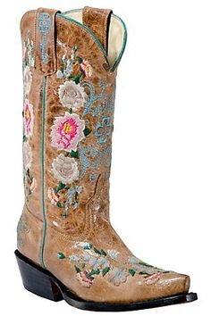 47056958fc35b9 Anderson Bean Macie Bean Kid s Tan Mad Cat Floral Embroidered Snip Toe  Boots cowboy-boots · Macie Bean StiefelKinder ...