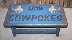 Dark Blue Little Cowpokes rustic western by WorkHorseFurniture