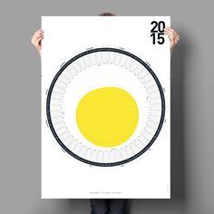 German imports Circular Calendar 2015 super high-end notebook calendar creative personalized calendar - Taobao