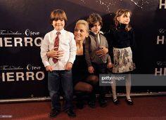 Actors Kaiet Rodriguez, Elena Anaya, Hugo Arbues and Miriam Martin attend the 'Hierro' premiere, at Callao Cinema on January 12, 2010 in Madrid, Spain.