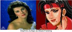 """Daphne Zuniga as Blaze Fielding. Why not? She was perfect as Princess Vespa in """"Spaceballs"""". I think she would have made a great Blaze Fielding in the Streets Of Rage movie. Beat Em Up, Vespa, Actors, Princess, Tv, Movies, Pictures, Wasp, Photos"""