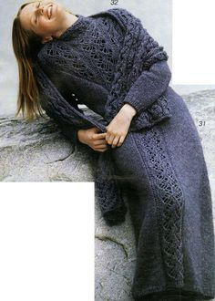"""Бохо - мой стиль, моя жизнь.: Вязаное платье """"баллон"""" и сарафан в эко стиле"""
