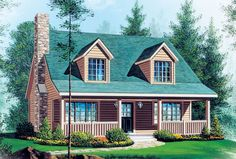 Country House Plan chp-16146 at COOLhouseplans.com   Total Living Area: 1339 sq. ft., 3 bedrooms and 2.5 bathrooms. #countryhome