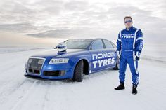 Nokian Tyres Breaks Own Ice Speed Record Reaching 209mph or 336km/h with an Audi RS6