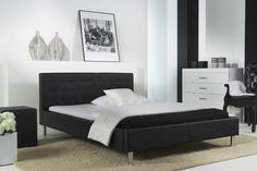 Pat tapițat cu piele ecologică Joe Negru Ron, Decoration, Mattress, Modern, Lounge, Bedroom, Furniture, Home Decor, Waterbed