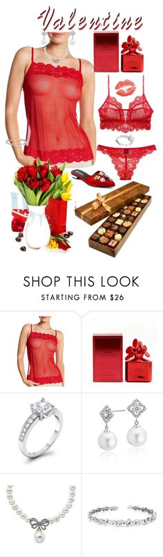 """""""Valentine Wish List"""" by shirley-degannes ❤ liked on Polyvore featuring Felina, Marc Jacobs, Blue Nile, Lord & Taylor and Suzanne Kalan"""