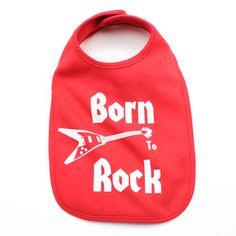 Born to Rock Baby Bib
