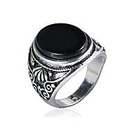 Men's Fashion Alloy Ring Vintage Personality Carving Gem Statement Rings Casual/Daily 1pc – NOK kr. 34