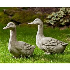 Bring some extra life into your garden with the Campania International Quackers Ducks Cast Stone Garden Statue . This duck comes with a sturdy cast stone. Stone Garden Statues, Outdoor Statues, Garden Stones, Cement Statues, Garden Statues For Sale, Garden Fountains, Patio Layout, Classic Garden, Animal Statues