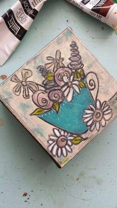 Tea and Petals by AllisonWeeksThomas on Etsy #art #etsy #tea