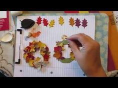 How To Make A Spellbinders Fall Leave Wreath video with CutAtHome.com cardmaking supplies