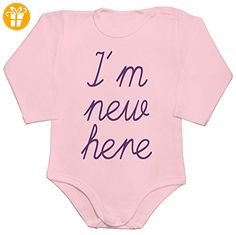 I'm New Here Baby Romper Long Sleeve Bodysuit Large - Baby bodys baby einteiler baby stampler (*Partner-Link)