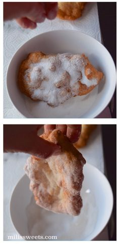 frittelle: traditional Italian fry-bread - recipe and how-to via milissweets.com - sugar, cinnamon and sugar and cheese
