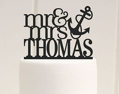Mr and Mrs Starfish Wedding Cake Topper with by ThePinkOwlDesigns