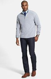 Tommy Bahama Quarter Zip Sweater & 7 For All Mankind® Straight Leg Jeans