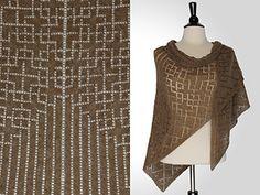 """Lorelei Triangular Shawl,"" by Steve Rousseau, knit in Shibui Pebble."
