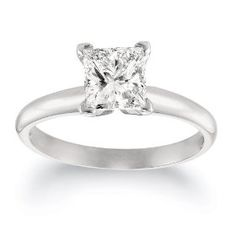 So simple but I love this princess cut wedding ring!