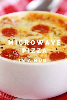 Courtesy of food blogger Gemma Stafford, you can cook up your microwave pizza in a mug quicker than ordering a Domino's.