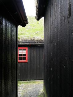 Between Black Wooden Houses in Reyni in Tórshavn, The Faroe Islands by Eileen Sandá, via Flickr