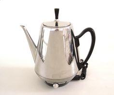 Sunbeam Coffee Percolator AP76 Electric Coffeepot Vintage Chrome Coffeemaster (as-is) by LaurasLastDitch on Etsy www.etsy.com/...