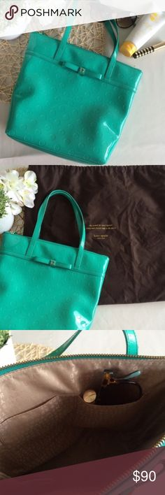 ✨host pick✨ Kate Spade Mint Camellia Tote Perfect condition, no noticeable flaws. kate spade Bags Totes