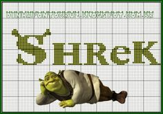 Para salvar o monograma e gráficos do Shrek e da fiona clique aqui: http://dinhapontocruz.blogspot.com.br/2014/05/monograma-shrek-ponto-cruz.html