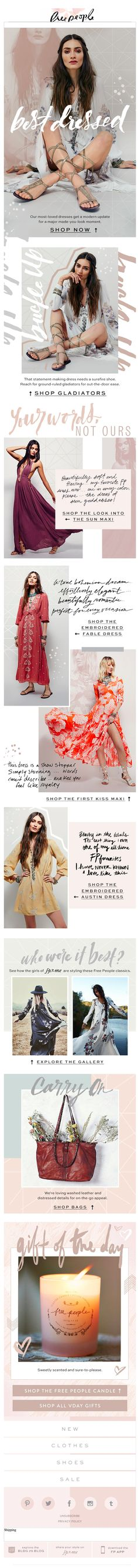 Free People email 2016