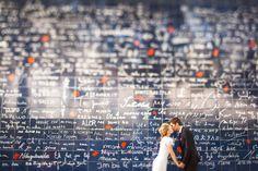 """Le mur des """"Je t'<3""""  #engagement #mariés #married #mariage #wedding #paris"""