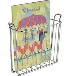 InterDesign Classico Wallmount Magazine Holder, Chrome - - Product Description: Capture the elegant simplicity of chrome with this Magazine Rack. Made of sturdy metal, this fantastic holder is gr Range Magazine, Wood Magazine, Baskets On Wall, Storage Baskets, Wire Baskets, Bathroom Organization, Storage Organization, Book Storage, Bathroom Storage