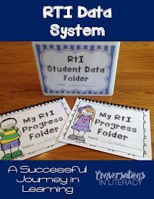Conversations in Literacy: RTI: A Successful Journey-learn how to document and…