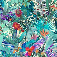 Tropical Patterns - Digital Art