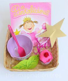 A Pinkalicious-themed story telling basket for preschoolers Preschool Literacy, Literacy Skills, Early Literacy, Literacy Bags, Preschool Colors, Preschool Themes, Kindergarten, Language Activities, Toddler Activities