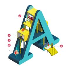 Typography Thursday – Amazing Isometric Letters by Jing Zhang