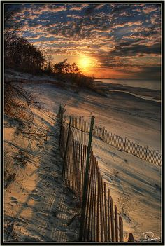 Indiana Dunes National Lakeshore on Lake Michigan in Indiana