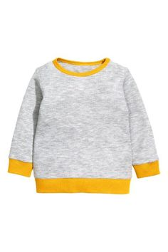 Long-sleeved T-shirt in waffled jersey made from organic cotton