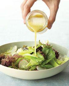 Martha Stewart - recipes for 8 homemade salad dressings
