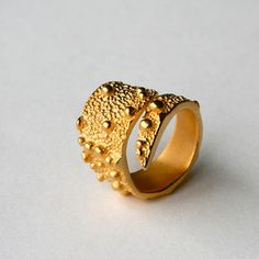 Tentacle Band Ring Gold Plated now featured on Fab.