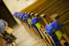 blue deco in church