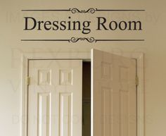 Dressing Room - Closet Clothes Women Fashion Kids Room Girl - Adhesive Vinyl Wall Decal, Lettering Art Letters Decor, Quote Sticker, Saying Decoration Wall Stickers Wallpaper, Wall Stickers Murals, Vinyl Wall Decals, Dressing Room Closet, Dressing Room Design, Dressing Area, Purple Home, Deep Purple, Vinyl Wall Quotes