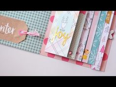 TUTORIAL SCRAPBOOKING mini álbum en cascada ✄ Dulce Scrap