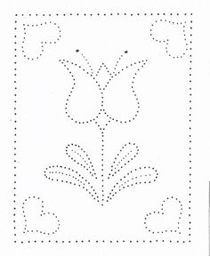 Paper Embroidery Patterns Tin Punch Patterns :: P 1103 Tulip with Hearts - Pierced Tin Designs - This charming pierced tin pattern in available in x size.Tools recommended to complete this design: Please note: Embroidery Cards, Hand Embroidery Designs, Embroidery Patterns, Mandala Design, Mandala Art, Pattern Art, Pattern Paper, Paper Piercing Patterns, Punched Tin Patterns
