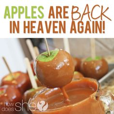 Best caramel apple recipe I've tried. The caramel is amazing. Grade: A++