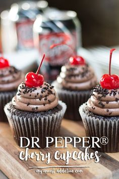 Dr Pepper® Cherry Cupcakes - My Newest Addiction