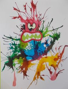 Related Posts:Germ crafts for preschoolA Fun Breathing Game for KidsPrintmaking art for kidsPrincess crown making with sparkle play doh Monster Crafts, Monster Art, Theme Halloween, Halloween Crafts, Halloween Costumes, Painting For Kids, Art For Kids, Germ Crafts, Bricolage Halloween
