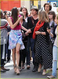 Nina Dobrev - love her skirt!
